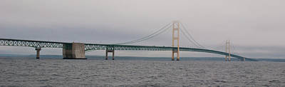 Photograph - Mackinac Bridge 10322 by Guy Whiteley