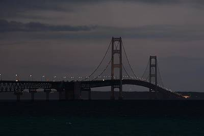 Photograph - Mackinac Bridge After Dark by Keith Stokes