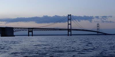 Mackinac Bridge At Eventide Art Print