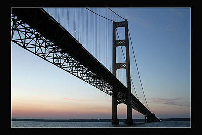 Mackinac Bridge At Sunset Art Print