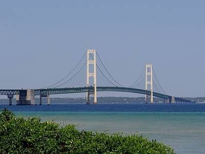 Mackinac Bridge Blue Art Print