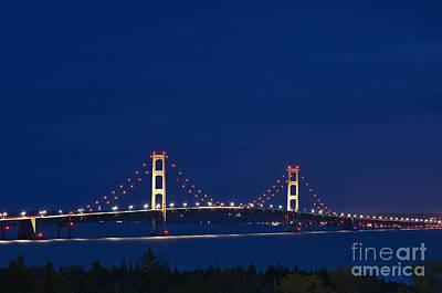 Mackinaw City Photograph - Mackinac Bridge - D002813 by Daniel Dempster