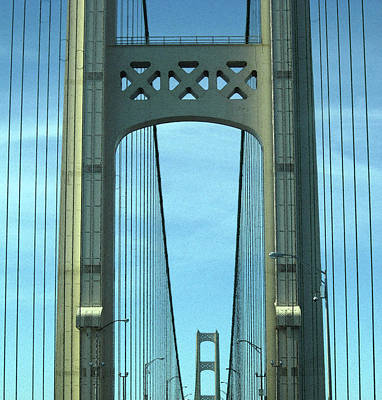 Mackinac Bridge Detail 2 Art Print by Mary Bedy