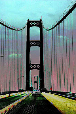 Photograph - Mackinac Bridge Fantasy by Terri Harper