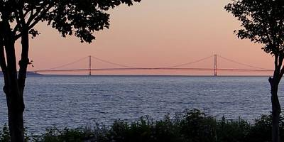 Photograph - Mackinac Bridge From Mackinac Island by Keith Stokes