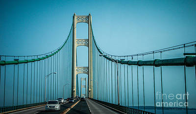 Photograph - Mackinac Bridge by Grace Grogan