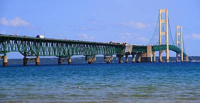 Photograph - Mackinac Bridge In Summer by Dan Sproul
