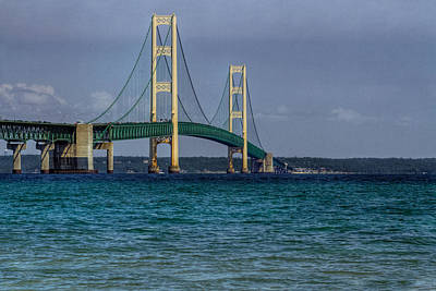 Photograph - Mackinac Bridge by Jerry Gammon