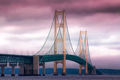 Michigan Mackinac Photograph - Mackinac Bridge by Kathy Nairn