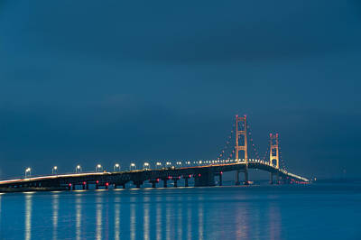 Photograph - Mackinac Bridge by Sebastian Musial