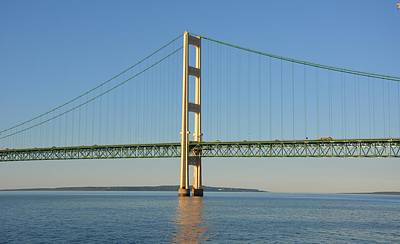 Photograph - Mackinac Bridge South Tower by Keith Stokes