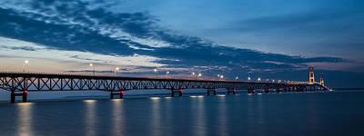 Photograph - Mackinac Bridge Sunset by John McGraw