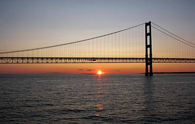 Mackinac Bridge Sunset Art Print