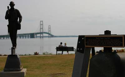 Photograph - Mackinac Bridge View by Dan Sproul