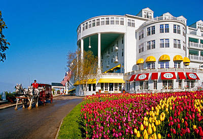 Mackinac Grand Hotel Art Print by Dennis Cox WorldViews
