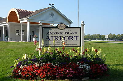 Photograph - Mackinac Island Airport by Brett Geyer