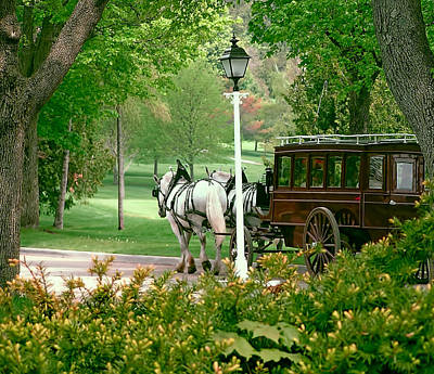 Mackinac Island Arriving In Style Art Print by Marti Snider