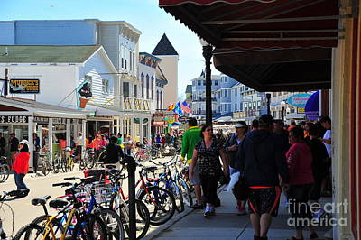 Its A Piece Of Cake - Mackinac Island Bicycle Traffic by Terri Gostola
