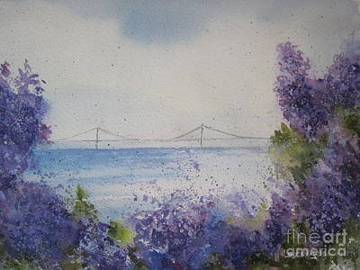Print featuring the painting Mackinac Island Lilacs by Sandra Strohschein