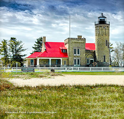 Photograph - Mackinac Point Lighthouse Michigan by LeeAnn McLaneGoetz McLaneGoetzStudioLLCcom