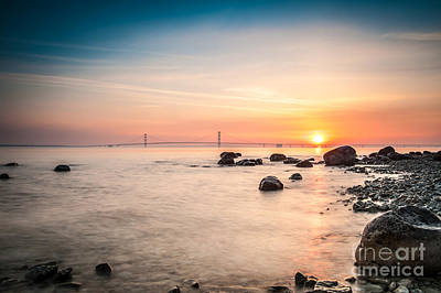 Photograph - Mackinac Sunrise by Larry Carr
