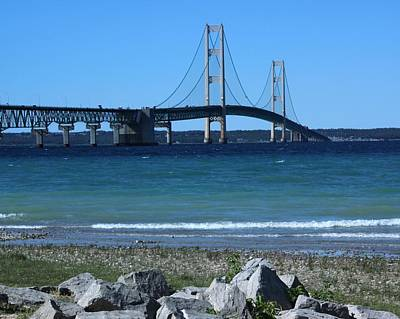 Art Print featuring the photograph Mackinaw Bridge by Bill Woodstock