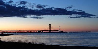 Mackinaw Bridge Twilight Art Print