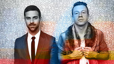 Music Artist Digital Art - Macklemore by Marvin Blaine