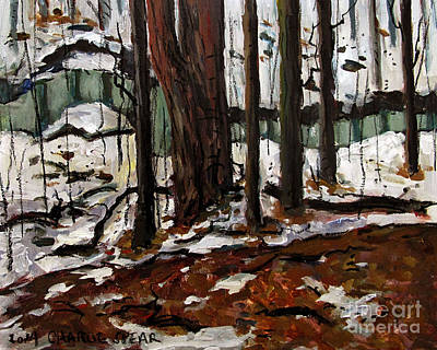 Acylic Painting - Maconaquah Winter Meander by Charlie Spear