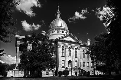 Macoupin County Courthouse Art Print by Jeff Burton