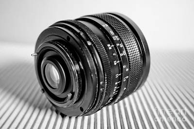 Vintage Camera Photograph - Macro Lens Black And White 1 by Pittsburgh Photo Company