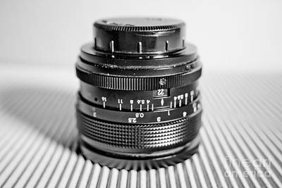 Camera Photograph - Macro Lens Black And White 3 by Pittsburgh Photo Company