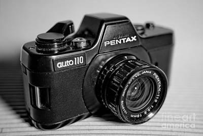 Camera Photograph - Macro Pentax 110 Dynamic Bw 2 by Pittsburgh Photo Company