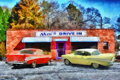Mac's Drive In Art Print by Lynne Jenkins