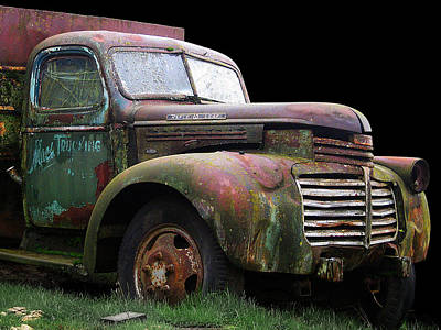 Photograph - Mac's Truck - Close Up by Larry Hunter