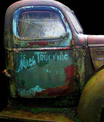 Photograph - Mac's Trucking - Door Posterized by Larry Hunter