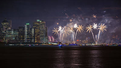 Photograph - Macy's 4th Of July Fireworks  by Eduard Moldoveanu