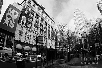 Macys At Broadway And 34th Street Herald Square New York City Print by Joe Fox