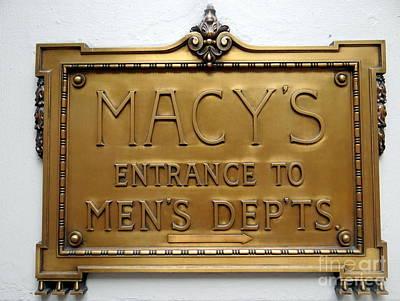 Photograph - Macy's by Ed Weidman