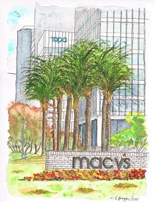 Macy's In Century City Mall - Beverly Hills - California Art Print by Carlos G Groppa