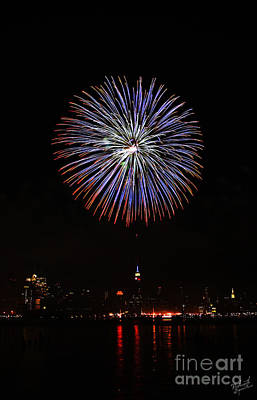 Fireworks Over The Empire State Building Art Print by Nishanth Gopinathan