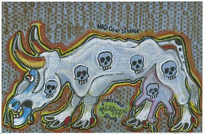 Mad Cow Disease Art Print