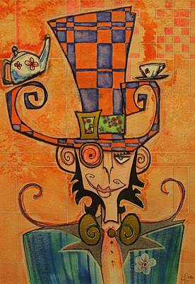 Mad Hatter Art Print by Ellen Henneke