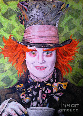 Vivid Drawing - Mad Hatter by Jessica Zint