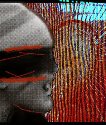 Digital Art - Mad Howling by Maria Jesus Hernandez