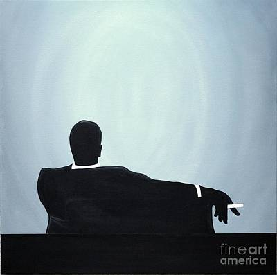 Painting - Mad Men In Silhouette #2 by John Lyes