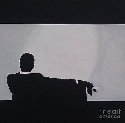 Mad Men In Silhouette Art Print by John Lyes