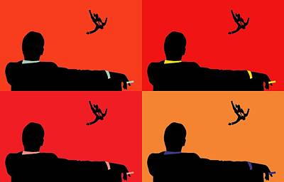 Mad Men Pop Art Collage Art Print