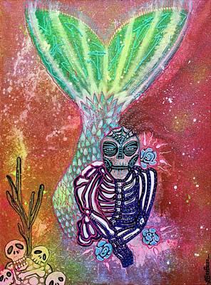 Mermaid Painting - Mad Mermaid Myrtle by Laura Barbosa