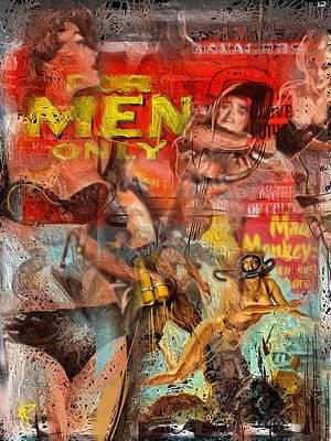 Magazine Mixed Media - Mad Monkeys by Russell Pierce